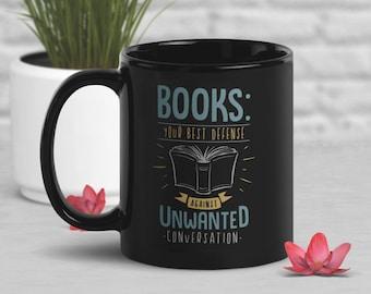 Funny Book Coffee Mug, Book Lover Gift, Geek Mug, Gift for Her, Him, Housewarming, Birthday, Book Nerd, Geek Gift, Bookish, Unwanted