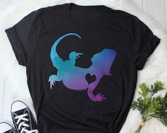 8e6a54dc4 Bearded Dragon Shirt, Women, Men Tshirt, Reptile Lover Gift, Funny Lizard T- Shirt, Cute Bearded Dragon Graphic Tee, Tops, Navy, Pink, Purple