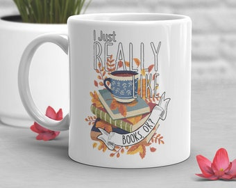 Funny Book Coffee Mug, Reading Lover Gift, Bookworm Bookish Geek Cup, Literature, Library Fandom Bibliophile, Gift for Her, Him, Book Nerd