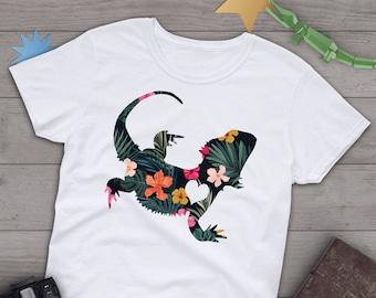 8e0181932 Bearded Dragon Shirt, Women, Men Tshirt, Reptile Lover Gift, Funny Lizard T- Shirt, Cute Bearded Dragon Graphic Tee, Tops, Grey, Blue, Purple