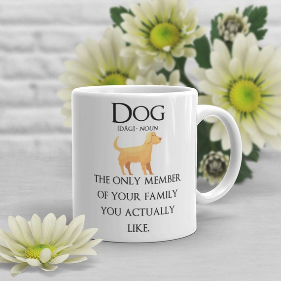 Funny Dog Coffee Mug Cute Dog Gift Dog Lover Gift For Her Etsy