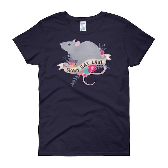 22c342b8e252 Rat chemise, femmes, cadeau d amant de Rat, Tops, Rat mignon T-shirt ...