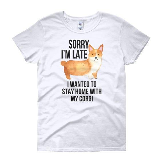 77bbf905f9207 Corgi Shirt Women Men Funny Dog Lover Gift Cute Pembroke | Etsy