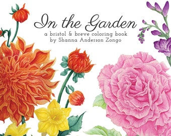 Coloring Book: In the Garden (digital download edition)
