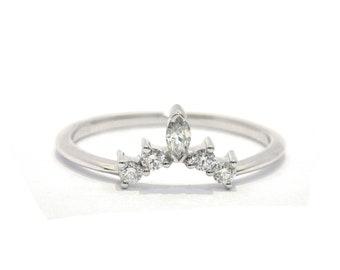 Diamond Wedding Band Etsy