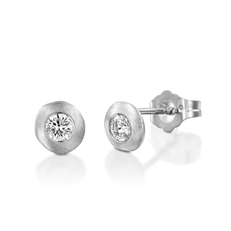 Diamond Earrings Vintage Earrings Diamond Studs Women Stud Earrings Gift for Her Delicate Diamond Earrings Matte Gold Diamond Earrings