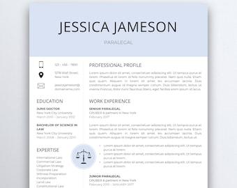 lawyer resume etsy