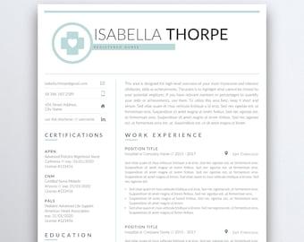 nurse resume template 5 pages nursing resume template etsy