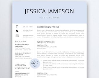 Nurse Resume Template 5 Pages | Nursing Resume Template   Registered Nurse    Nurse CV Template