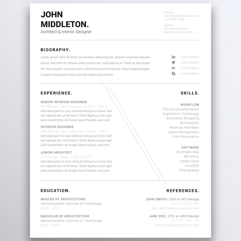 Professional Resume Template 5 Pages  Administrative image 0