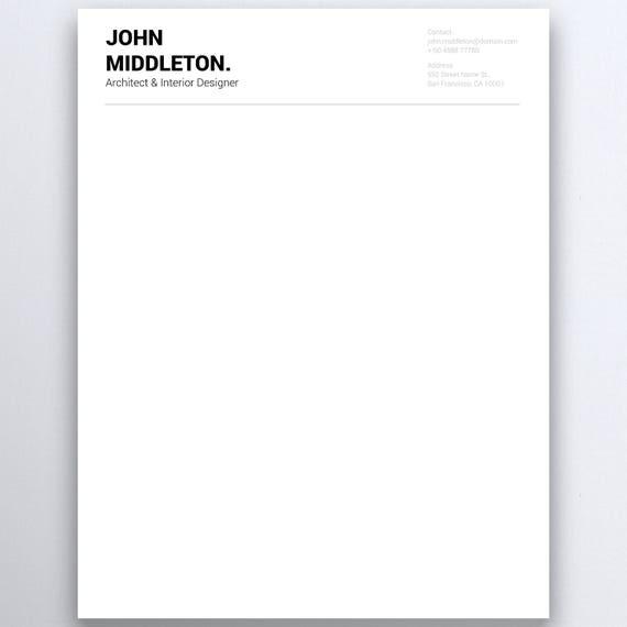business letterhead personal letterhead letterhead design etsy