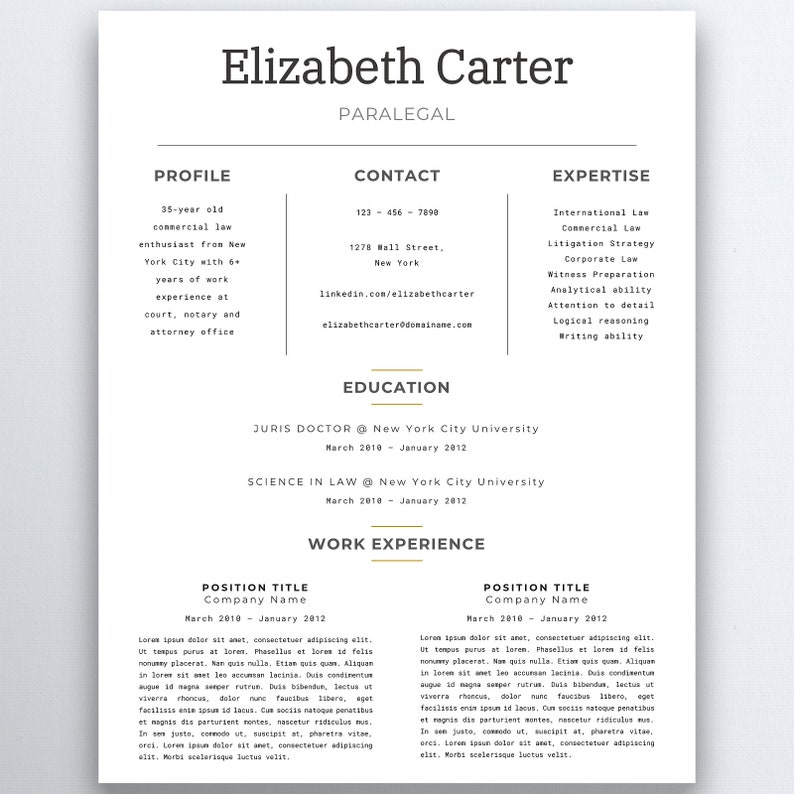 Assistant Resume Legal Template Lawyer