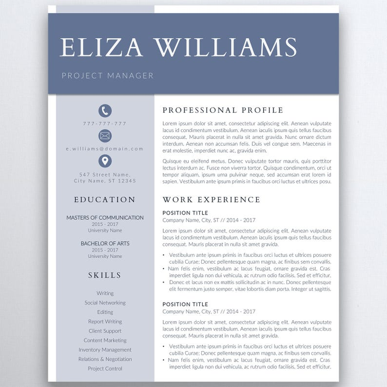 Resume Template 5 Pages  Clean Resume Template  Minimalist image 0