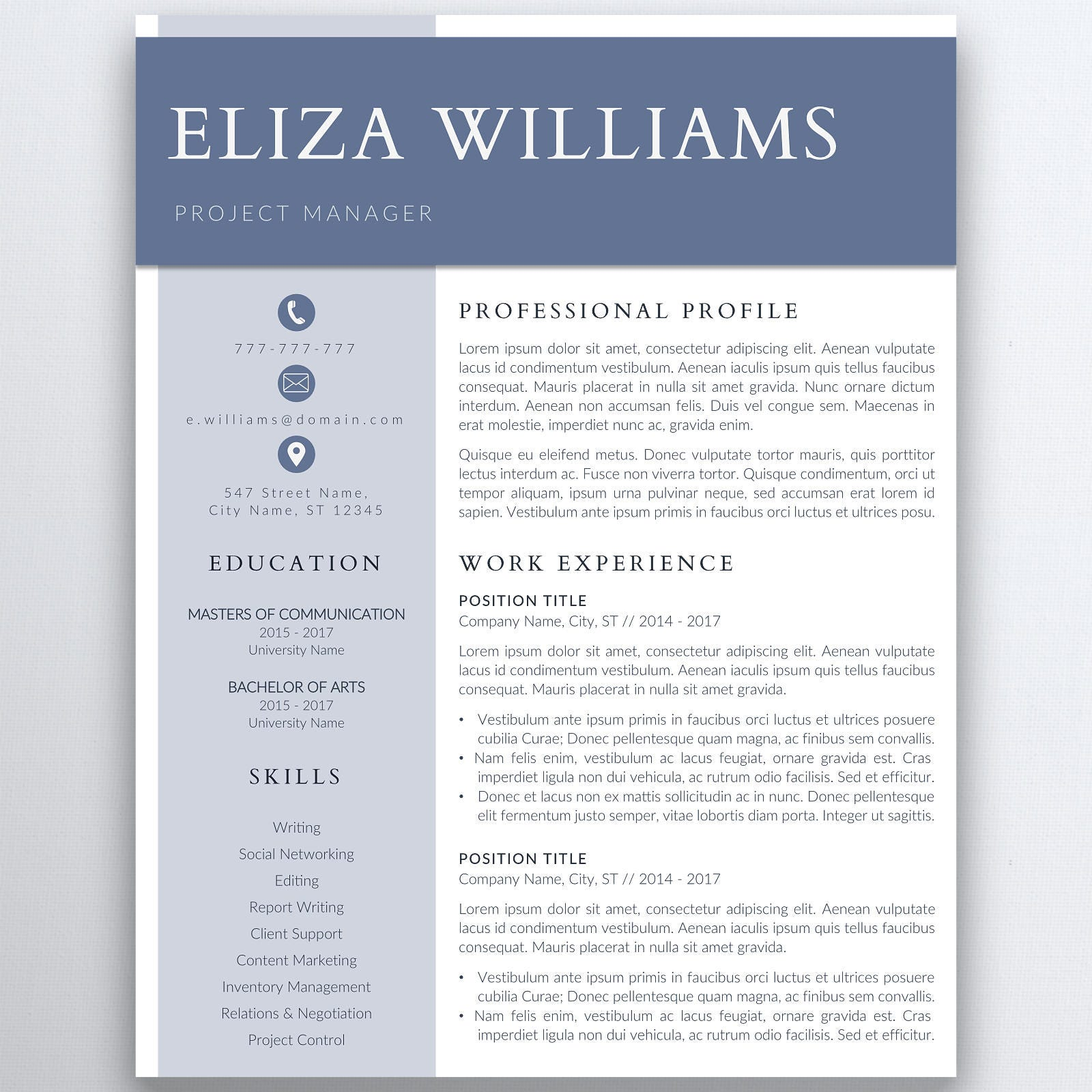 resume template 5 pages clean resume template minimalist