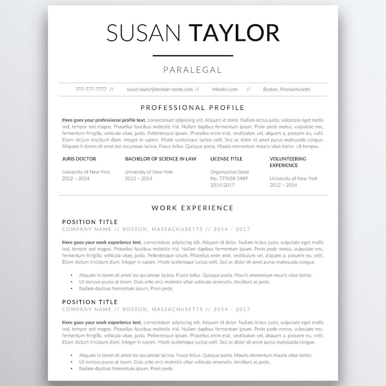Lawyer Resume Template Legal Attorney