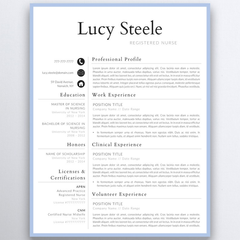 graduate nurse resume template nursing resume template