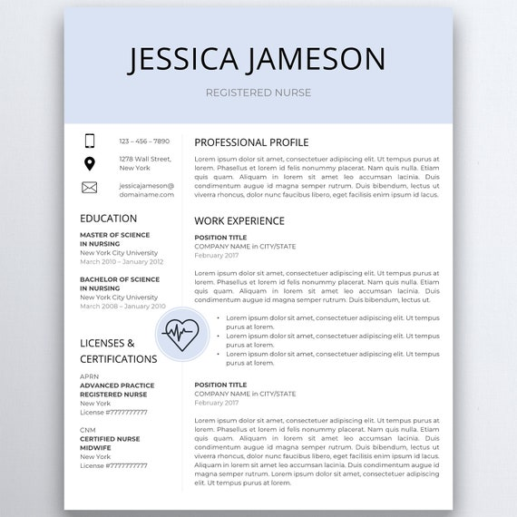 nurse resume template 5 pages nursing resume template