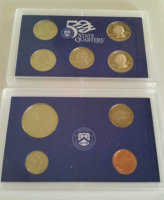1999 US Mint 9 Coin Proof Set as Issued In OGP and COA