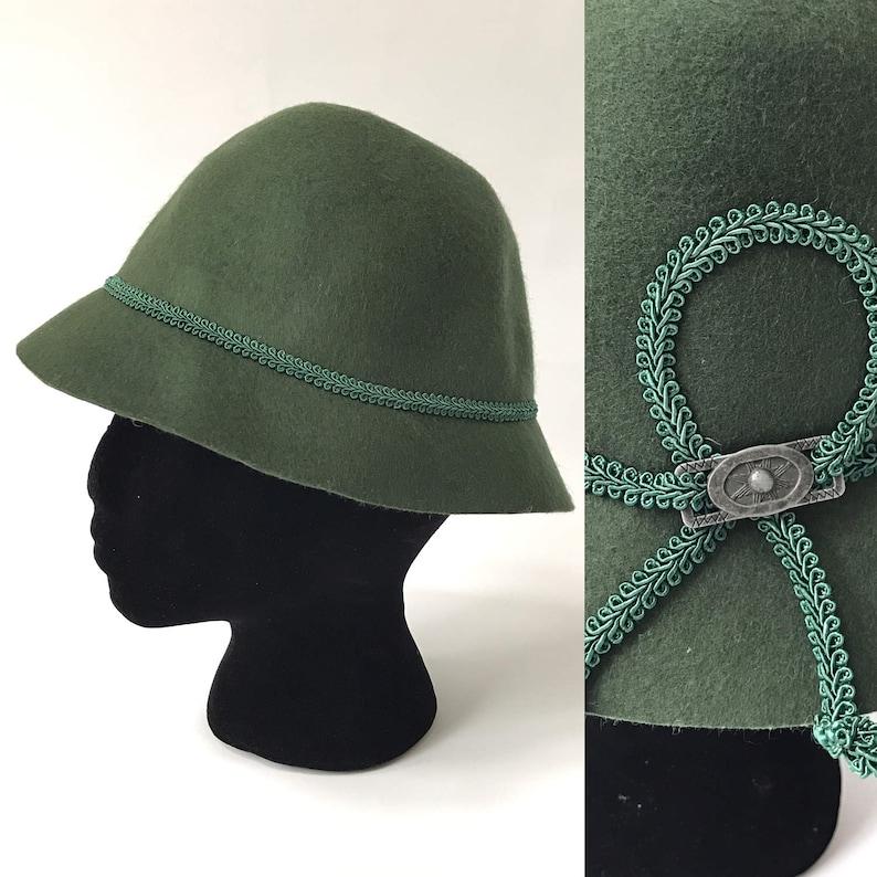 b8d4fda0 Green Alpine Hat Felt Tyrolean Original Isar Trachten Olive | Etsy