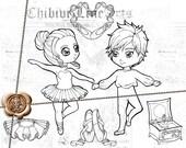 ähnliche Artikel Wie Digital Stamps Lineart Set Chibi
