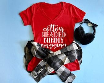 Christmas Shirt. Elf the Movie Shirt. Cotton Headed Ninny Muggins Shirt.  Buddy the Elf Shirt. Christmas Gift Idea. Funny Christmas Tee. 1b5dafb3a