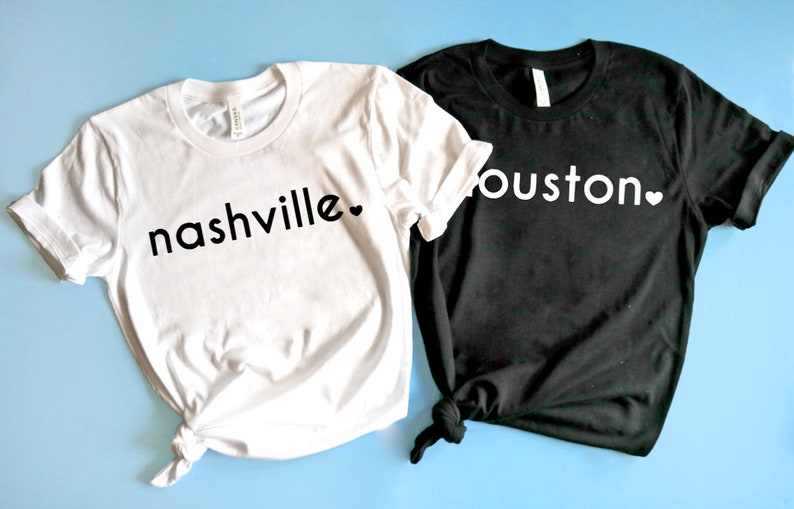 Moving Gift Home town shirts Customizable Nashville Shirt Gift for friend. Christmas Gift Idea Texas Shirt Home Coming Gift