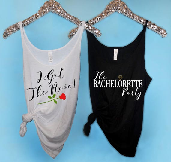 c906849b215885 Bachelorette Party Shirts I Got the Rose Slouchy Tank The