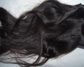 """26"""" Clip In Human Hair Extension Black Straight Wave Texture Remy Virgin Raw (52)"""