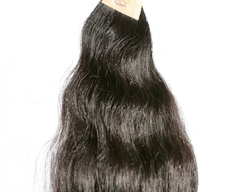 """17"""" Indian Black Remy Raw Virgin Curly Temple Clip on Human Hair Extensions"""