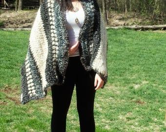 Chunky Crochet Shawl, Scarf, Wrap