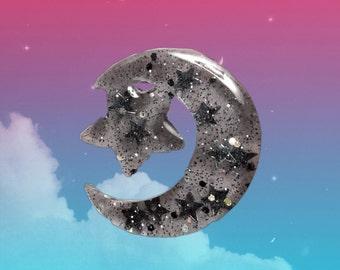 Starry Night Handmade Resin Lapel Pin