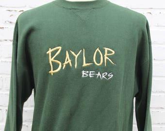 90 s Vintage College BAYLOR BEARS Sweatshirt 15bf244b6