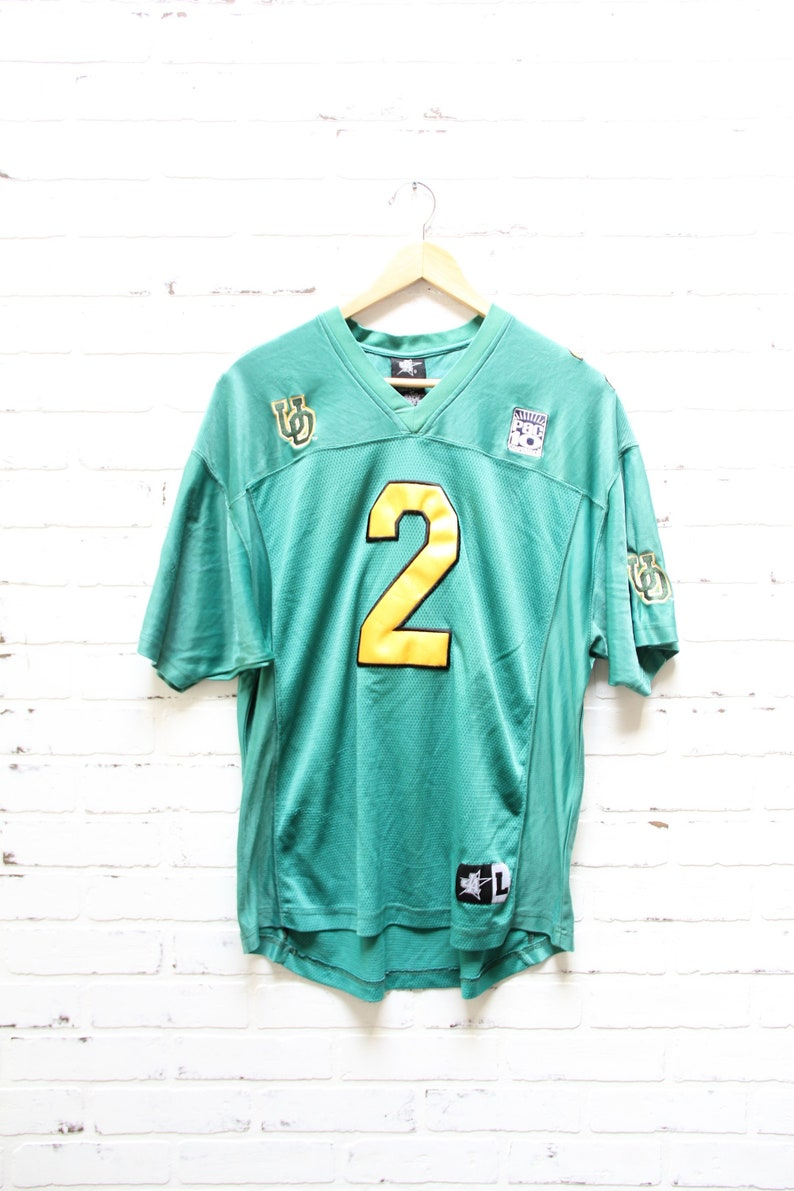 brand new 1d290 7a1e1 Vintage 90's OREGON DUCKS Green and Yellow Jersey, Pac 12 Conference,  Eugene Oregon, Size Large (fits like medium)