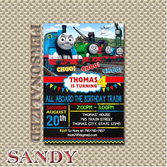 Thomas Train Invitation Birthday