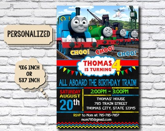 Thomas train party Etsy