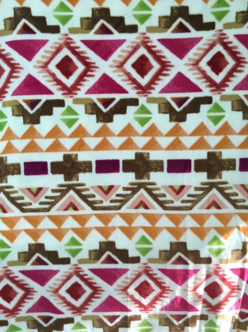 throw blanket Sherbet Aztec 72 x 60 Inches Soft fuzzy warm cuddly fleece