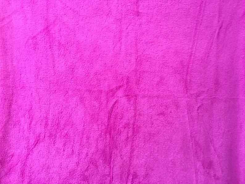 blanket throw Solid Hot Pink 60 X 50 Inches Soft fuzzy warm cuddly fleece