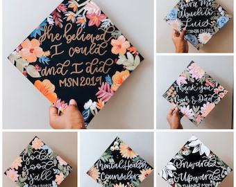 Customized Graduation Cap Topper (Hand-painted)