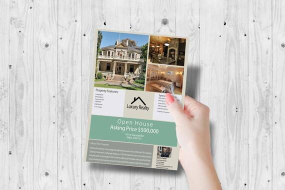 Makler Marketing Vermarktung Flyer Makler offen Haus   Etsy