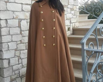 Moschino Cheap and Chic cachemire and wool camel cape - Size 44