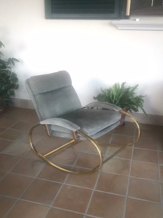 Pleasing Guido Faleschini Stunning Italian Armchair Rocking Chair Mint 1970 Gmtry Best Dining Table And Chair Ideas Images Gmtryco