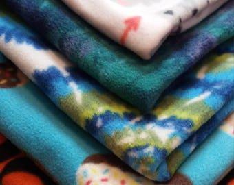 Medium Sized Fleece Tied Pet Blankets