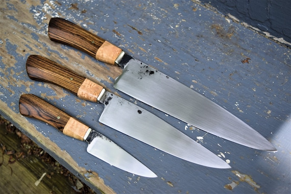 Custom Hand Forged Kitchen Knife Set