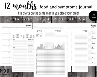 My food and symptoms journal Pdf. Symptoms blank.Food allergies and intolerance diary log. Fpies, EOE, dairy, Coeliac, IBS, Cmpa.