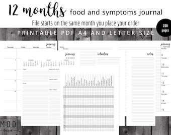My food and symptoms journal PDF. Symptoms pre-printed. Food allergies & intolerance diary log. Fpies, EOE, dairy, Coeliac, IBS, Cmpa, Cmpi.