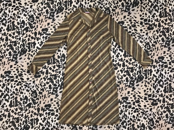 Vintage 1990's glitter metallic stripe stretch kni