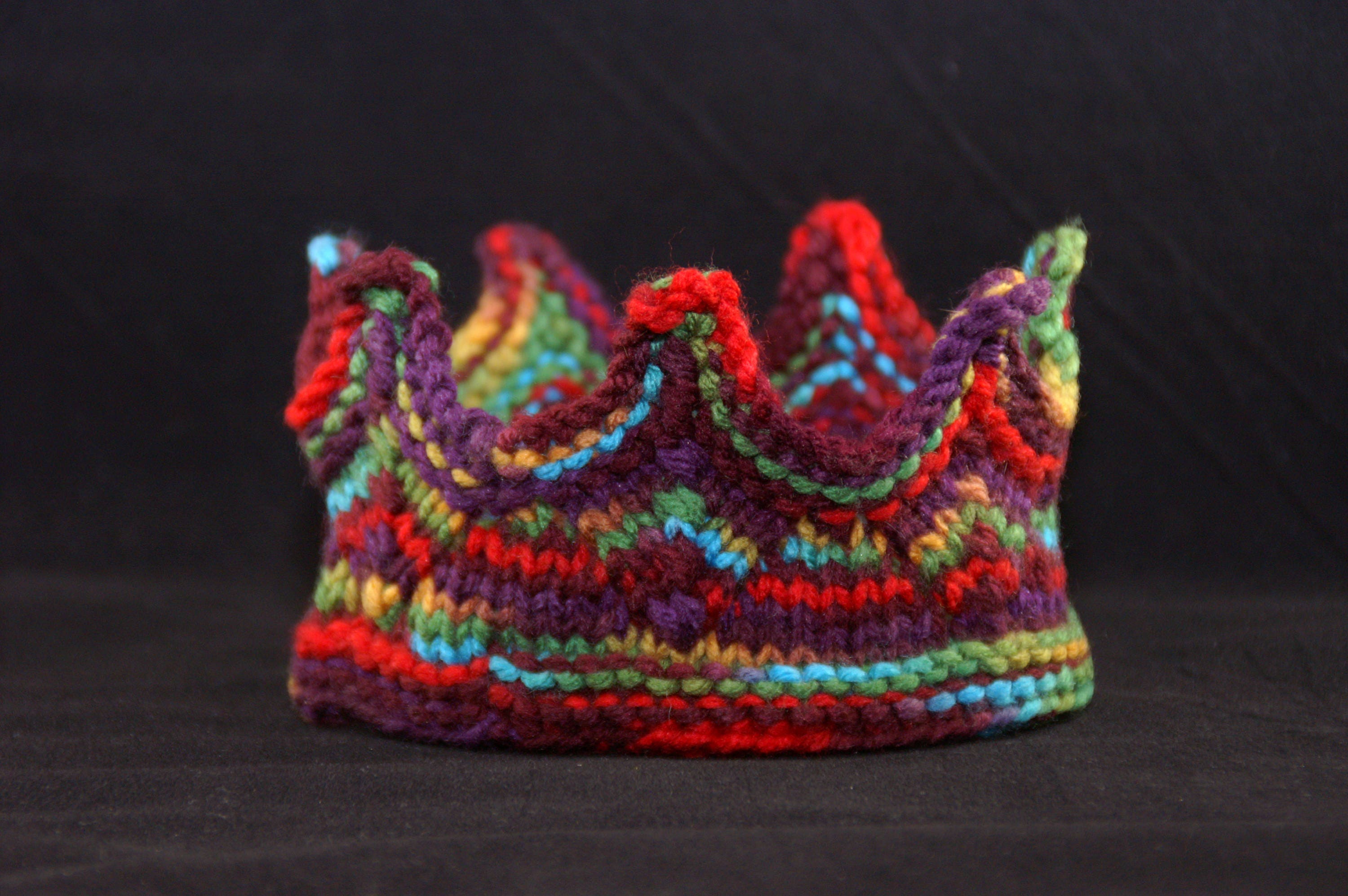 Knit Crown Red Purple Blue Green Yellow Princess Or King Etsy