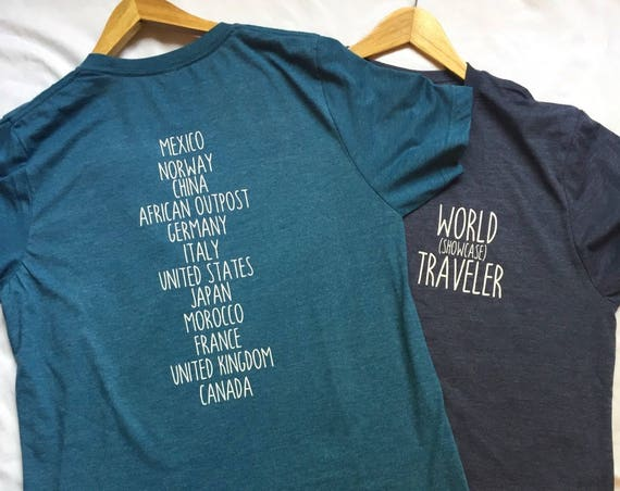 World Showcase Traveler Countries Shirt / Disney Shirt / Epcot Shirt / Men Women Disney Shirt/Epcot World Showcase/Disney Gift/Gift Under 30