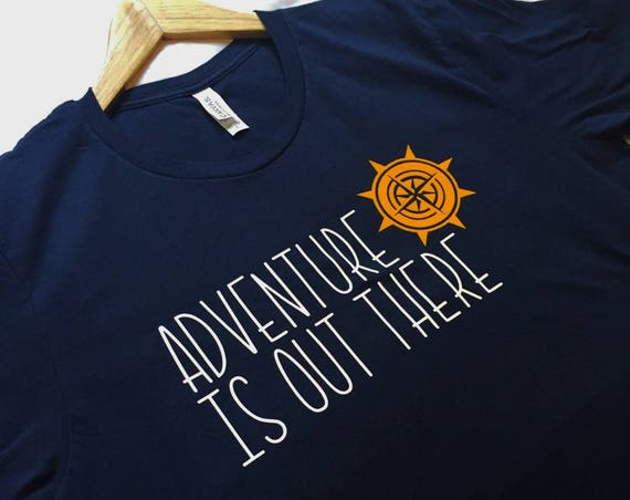 Adventure Is Out There Navy /Adult Disney / Adventure Shirt / Disney Shirt / Up/Pixar/Outdoors Shirt/Disney Gift/Outdoors Gift/Gift Under 30