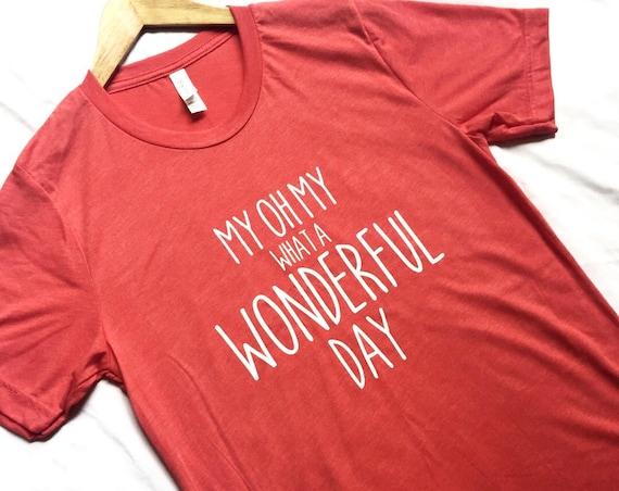 My Oh My What A Wonderful Day Shirt / Splash Mountain / Zip A Dee Doo Dah / Disney Shirt Women / Disney Shirt Men / Disney Gift Under 30